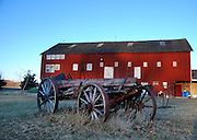 John Million, current owner of Mayberry Run Farm, converted the.north end of this large, mid-1800's bank barn into his office.  .The remains of an ancient wagon rests near the structure built.around 1850--more than 100 years after the tract of land was.conveyed from Lord Baltimore to Jacob Clount.