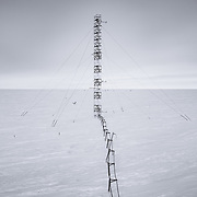 Air sampling tower at NOAA's Atmospheric Research Observatory (ARO) at the South Pole. The ARO sits at the edge of the Clean Air Sector which has the cleanest air on Earth.