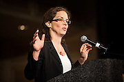 """Amy Sterndale MCs the """"Speaking Rural Truth to Power"""" session at the National Rural Assembly on Tuesday, June 27, 2011."""