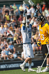 09 May 2009: North Carolina Tar Heels attackman Matthias McCall (19) during a 15-13 win over the University of Maryland - Baltimore County Retrievers on Fetzer Field in Chapel Hill, NC.
