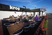 Skillinge harbour. The Hamnkrog (short: Krog) restaurant.