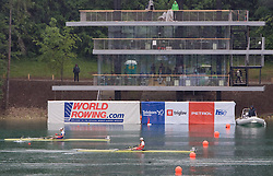 Women's Single Sculls at finish area during finals of Rowing World Cup  on May 30, 2010, at Bled's lake, Bled, Slovenia. (Photo by Vid Ponikvar / Sportida)