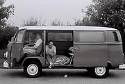 Boys in VW Camper van, UK, 1985