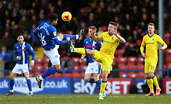 Reuben Noble-Lazarus of Rochdale challenges Ollie Clarke of Bristol Rovers - Mandatory by-line: Matt McNulty/JMP - 04/02/2017 - FOOTBALL - Crown Oil Arena - Rochdale, England - Rochdale v Bristol Rovers - Sky Bet League One
