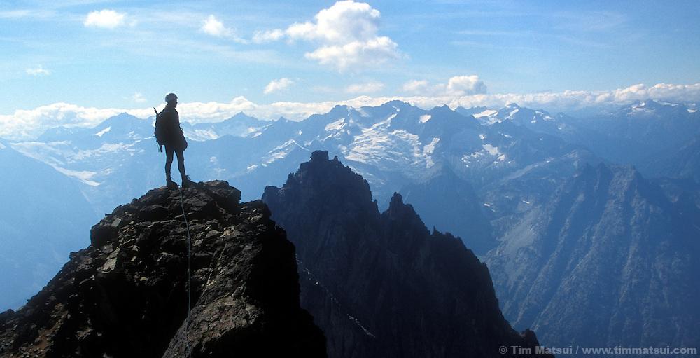 On top of Black Peak, North Cascades.