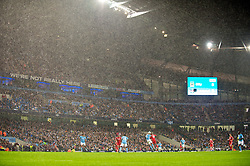 MANCHESTER, ENGLAND - Monday, August 23, 2010: Liverpool take on Manchester City as the rain pours down during the Premiership match at the City of Manchester Stadium. (Photo by David Rawcliffe/Propaganda)