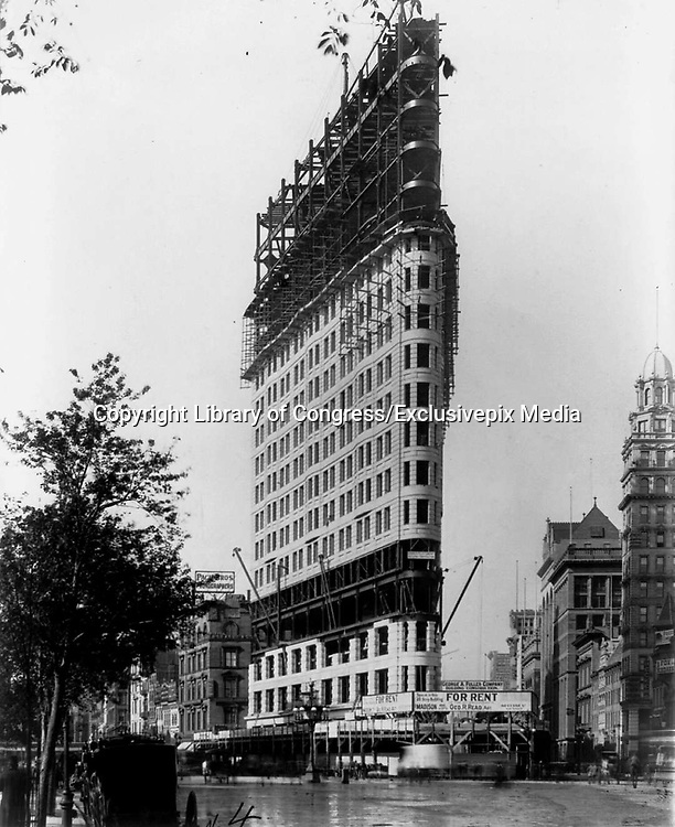 Historical Photos of The World's Most Iconic Landmarks Before They Were Finished<br /> <br /> The world's most iconic landmarks are a big draw for tourists from around the world. But these historical landmarks are not just tourist attractions, they often serve as a milestone in history or a remarkable event in time.<br /> <br /> Photo shows: Flatiron Building, 1902<br /> ©Library of Congress/Exclusivepix Media