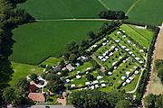 Nederland, Gelderland, Achterhoek, 30-06-2011; omgeving Borculo.Boerderijcamping met caravans in de omgeving van Borculo. Camping on the farm. luchtfoto (toeslag), aerial photo (additional fee required).copyright foto/photo Siebe Swart