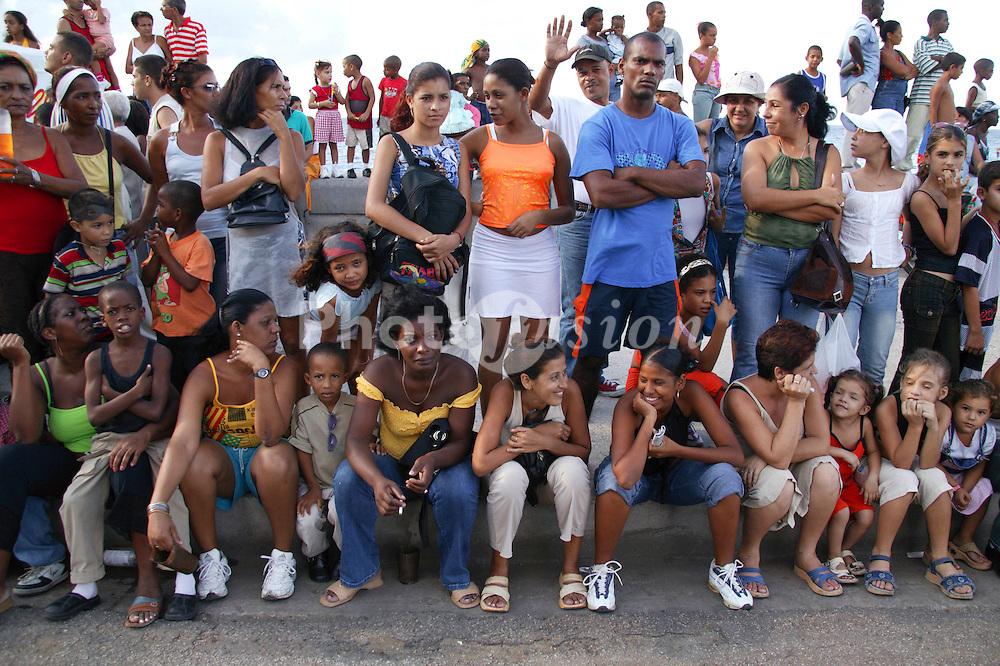 Spectators at Carnival; Havana; Cuba,