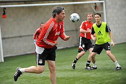 LIVERPOOL, ENGLAND - Tuesday, May 12, 2009: Ex-Liverpool player Gary Ablett during a training session at Melwood as the players prepare for the Hillsborough Memorial Game in aid of the Marina Dalglish Appeal which will be staged at Anfield on May 14. (Photo by Dave Kendall/Propaganda)