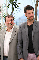 Actors Patrick D'assumçao, Christophe Paou, . at the L'inconnu Du Lac film photocall at the Cannes Film Festival 17th May 2013