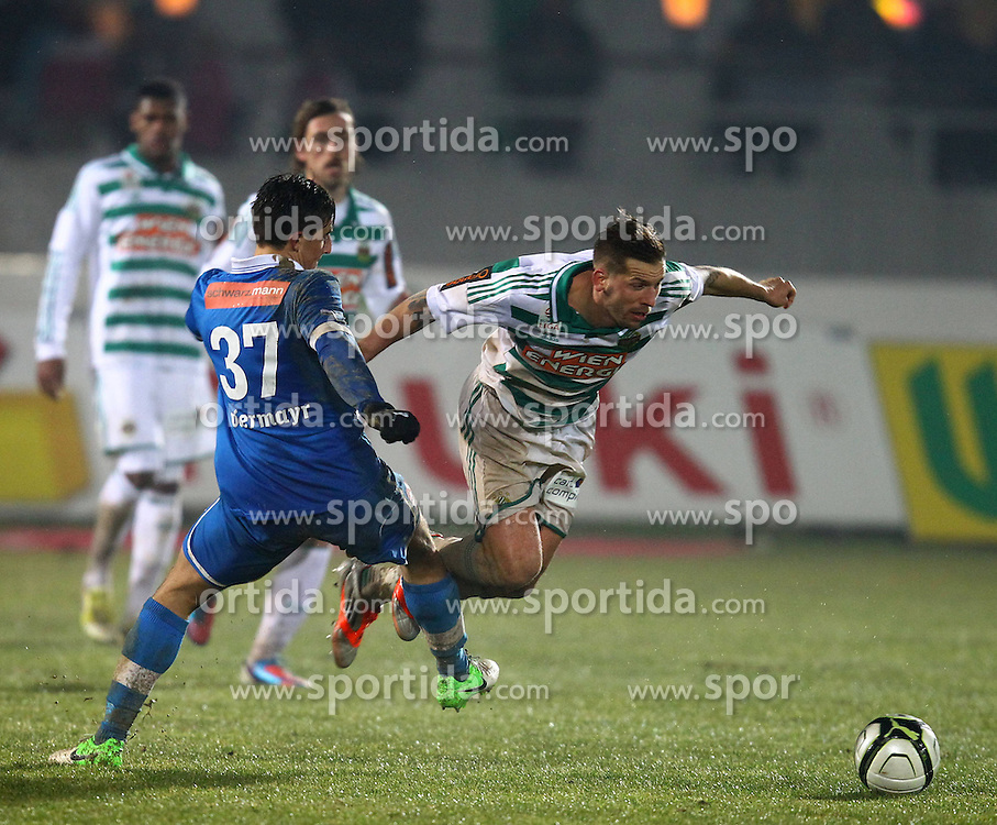 15.12.2012, Wiener Neustadt, Wiener Neustadt, AUT, 1. FBL, SC Wiener Neustadt vs SK Rapid Wien, 20. Runde, im Bild Thomas Piermayr (SC Wiener Neustadt, #37) und Guido Burgstaller (SK Rapid Wien, #30)  // during Austrian Bundesliga Football Match, 20h round, between SC Wiener Neustadt and SK Rapid Vienna, at the Stadium Wiener Neustadt, Wiener Neustadt, Austria on 2012/12/15. EXPA Pictures © 2012, PhotoCredit: EXPA/ Patrick Leuk.