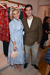 Natalie Rushdie and Zafar Rushdie at the launch of the Beulah Flagship store, 77 Elizabeth Street, London England. 16 May 2018.