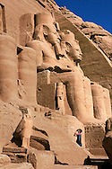 Abu Simbel, Egypt - Travel along the Nile in Egypt.