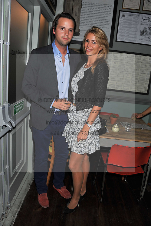 CHARLIE GILKES and ANNEKE VON TROTHA TAYLOR at a party to celebrate the opening of Bunga Bunga - a new Pizzeria & Bar, 37 Battersea Bridge Road, London SW11 on 1st September 2011.