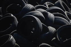 March 1, 2019 - Barcelona, Catalonia, Spain - Used tyres are seen next to the track during day eight of the Formula One winter testing at Circuit de Catalunya (Credit Image: © Matthias OesterleZUMA Wire)