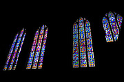 Stain glass windows in the Church of St. Anne, Vilnius, Lithuania