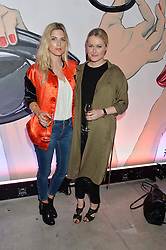 Left to right, ASHLEY JAMES and LORNA WEIGHTMAN at the launch of The Lulu Perspective to celebrate 25 years of Lulu Guinness held at 74a Newman Street, London on 13th September 2014.