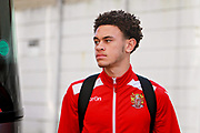 Stevenage midfielder Luke Amos (14) arrives at the ground before the EFL Sky Bet League 2 match between Notts County and Stevenage at Meadow Lane, Nottingham, England on 24 February 2018. Picture by Nigel Cole.