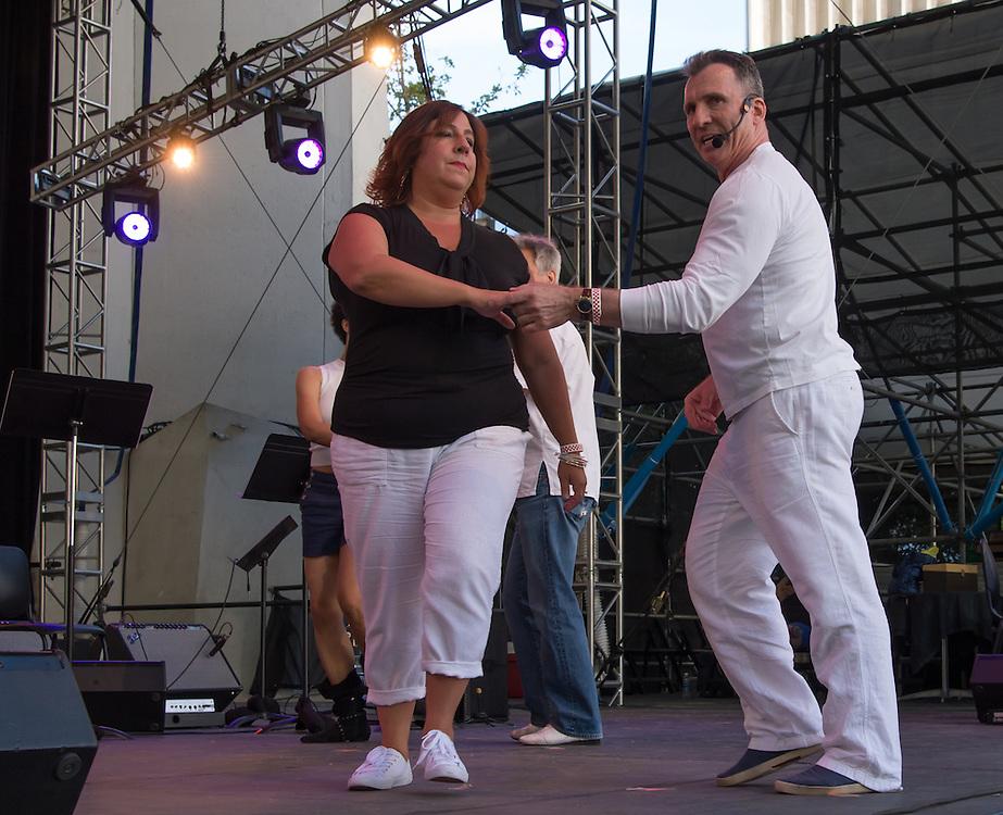 John Festa and dancers