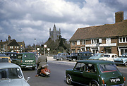 Street scene in Amersham, UK, 1963
