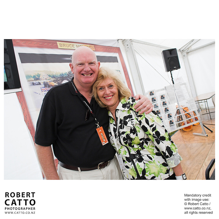 Michael Clark;Pat Kerr at the Launch of the Bruce McLaren Movie project at the A1 Grand Prix of New Zealand at the Taupo Motorsport Park, Taupo, New Zealand.
