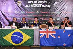 November 6, 2018 - SãO Paulo, Brazil - SÃO PAULO, SP - 06.11.2018: COLETIVA BRASIL RUGBY X ALL BLACKS MAORI - Press conference for the Brazil Rugby match x All Blacks Maori, in São Paulo, this Tuesday (6) (Credit Image: © Roberto Casimiro/Fotoarena via ZUMA Press)