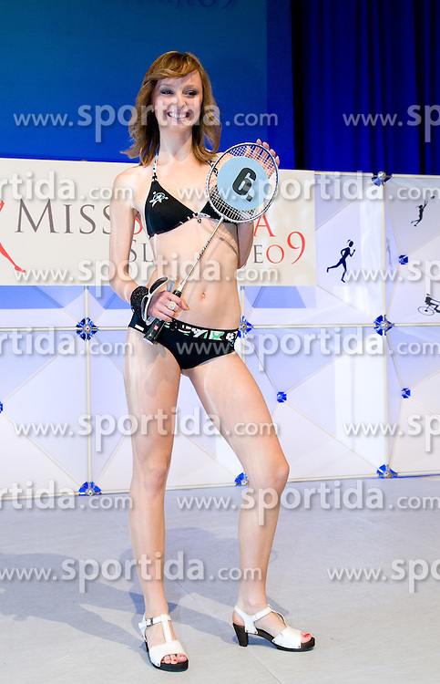 Seherezada Karamujic at event Miss Sports of Slovenia, on April 18, 2009, in Festivalna dvorana, Ljubljana, Slovenia. (Photo by Ales Oblak / Sportida)