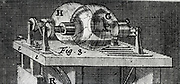 Static electric machine using two  glass globes to generate a charge by friction, 1747.