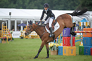 LONGWOOD ridden by Katherine Coleman (USA) during the final jumping event at Bramham International Horse Trials 2016 at  at Bramham Park, Bramham, United Kingdom on 12 June 2016. Photo by Mark P Doherty.