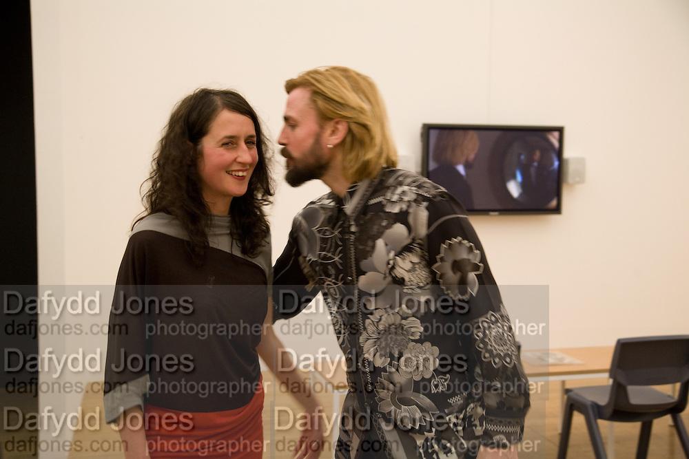LIZZIE CARY-THOMAS; MARK LECKEY, 2008 Turner Prize Award. Tate Millbank. London. 1 December 2008 *** Local Caption *** -DO NOT ARCHIVE -Copyright Photograph by Dafydd Jones. 248 Clapham Rd. London SW9 0PZ. Tel 0207 820 0771. www.dafjones.com