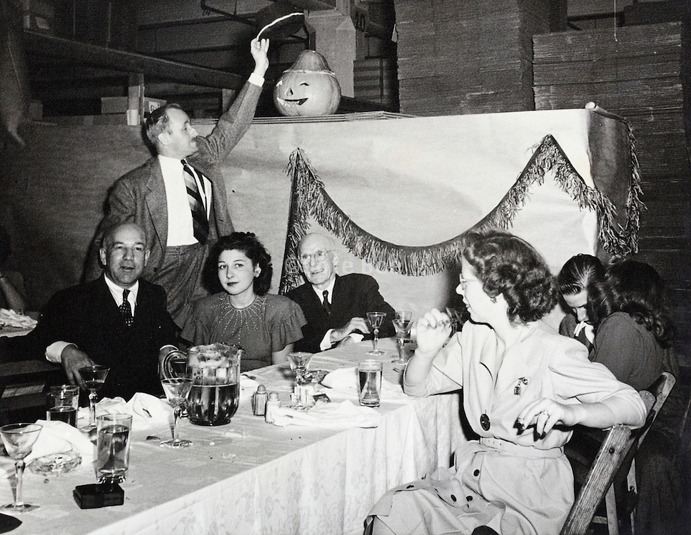 Halloween party at the factory 1945 USA
