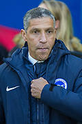 Chris Hughton, Manager of Brighton & Hove Albion FC during the FA Cup fourth round match between Brighton and Hove Albion and West Bromwich Albion at the American Express Community Stadium, Brighton and Hove, England on 26 January 2019.