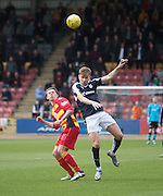 Dundee&rsquo;s Greg Stewart and Partick Thistle&rsquo;s Aidan Nesbitt - Partick Thistle v Dundee, Ladbrokes Premiership at Firhill<br /> <br /> <br />  - &copy; David Young - www.davidyoungphoto.co.uk - email: davidyoungphoto@gmail.com