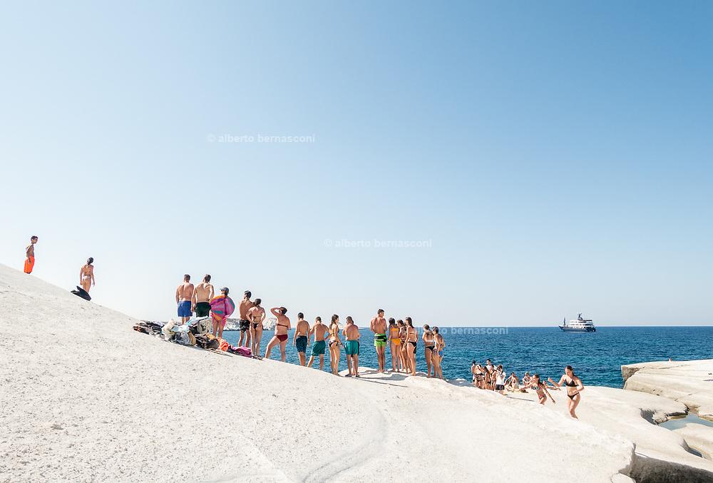 Greece, Kyklades, Milos, Sarakiniko beach