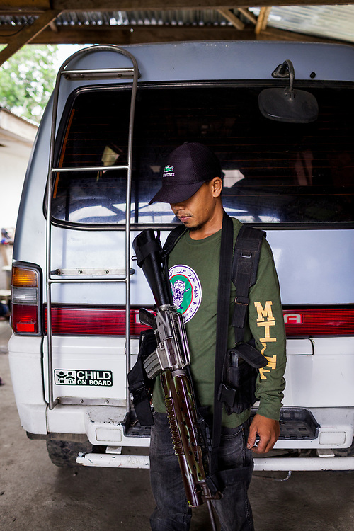 Sarangani Province, Mindanao, Philippines - JUNE 21: A portrait of  a member of the Moro Islamic Liberation Front (MILF) in the Sarangani Province.