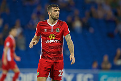 CARDIFF, WALES - Wednesday, August 17, 2016: Blackburn Rovers' Shane Duffy in action against Cardiff City during the Football League Championship match at Cardiff City Stadium. (Pic by David Rawcliffe/Propaganda)