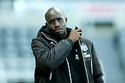 Mohamed Diame (#10) of Newcastle United arrives ahead of the Premier League match between Newcastle United and Leicester City at St. James's Park, Newcastle, England on 9 December 2017. Photo by Craig Doyle.
