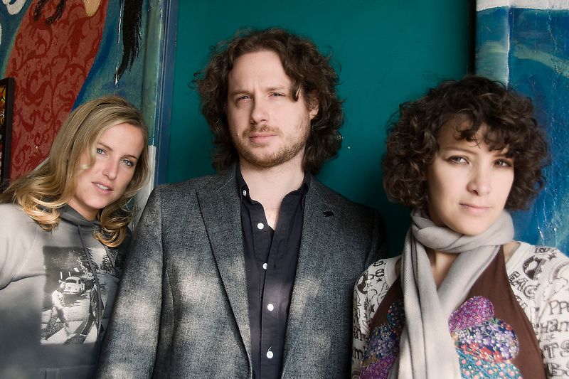 Leslie Lowe, Sebastian Aymanns, Gaby Moreno at Tsunami Coffeshop in Los Angeles, CA.