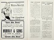 All Ireland Senior Hurling Championship Final,.Brochures,.01.09.1946, 09.01.1946, 1st September 1946, .Cork 7-5, Kilkenny 3-8, .Minor Dublin v Tipperary.Senior Cork v Kilkenny.Croke Park, ..Advertisements, Madame Nora Ltd Hosiery Specialists, Murray & Sons Sow the Best, ..Quotes, Cork v Kilkenny 1907 Final,..Poems, The Hurler, The Banks of My Own Lovely Lee,