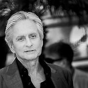 "Black & White Portrait ""Michael Douglas"" during the 66th Annual Cannes Film Festival"