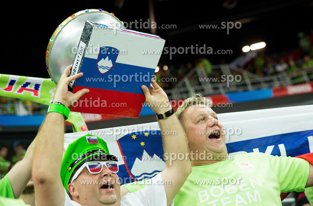 Fan of Slovenia during basketball match between Croatia and Slovenia at Day 1 in Group C of FIBA Europe Eurobasket 2015, on September 5, 2015, in Arena Zagreb, Croatia. Photo by Vid Ponikvar / Sportida