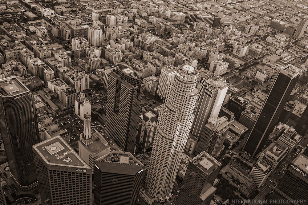 Skyscrapers of Downtown LA vs. Historic Downtown