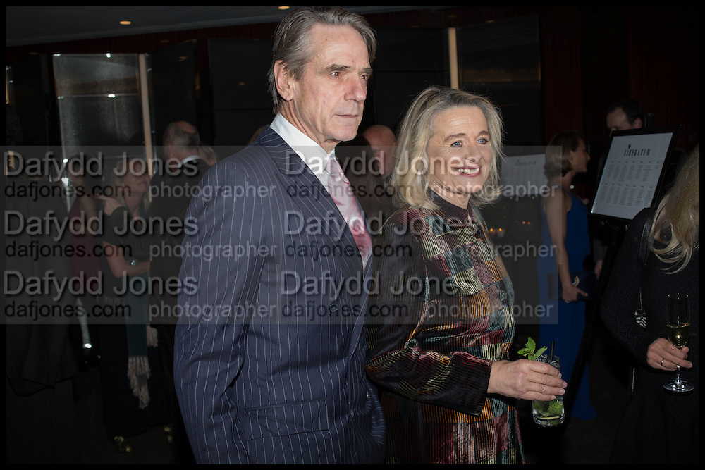 JEREMY IRONS; SINEAD CUSACK, Liberatum Cultural Honour for Francis Ford Coppola<br /> with Bulgari Hotel &amp; Residences, London. 17 November 2014