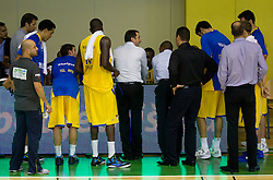 David Blatt, head coach of Maccabi during basketball match between KK Krka and Maccabi Electra Tel-Aviv in 1st Round of ABA League, on October 1, 2011, in Arena Leon Stukelj, Slovenia. Maccabi defeated Krka 83-68. (Photo by Vid Ponikvar / Sportida)