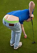 Foute golfer