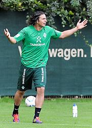 19.08.2011, Trainingsgelaende, Bremen, GER, 1.FBL, Training Werder Bremen, im Bild Claudio Pizarro (Bremen #24)..// during training session from Werder Bremen on 2011/08/19, Trainingsgelaende, Bremen, Germany..EXPA Pictures © 2011, PhotoCredit: EXPA/ nph/  Frisch       ****** out of GER / CRO  / BEL ******