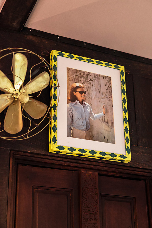 Images of Jackie Kennedy Onassis in tent #1