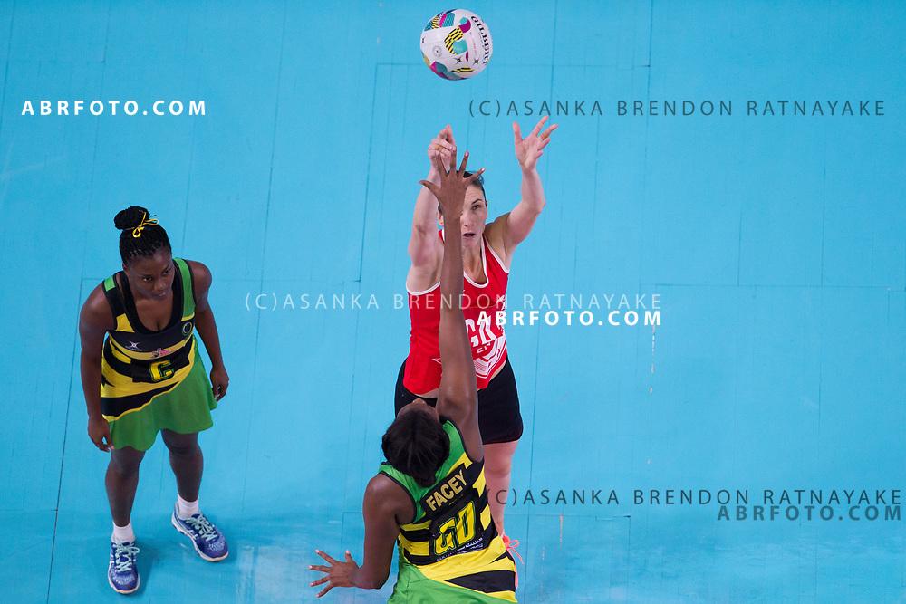 Rachel Dunn shoots during Australia Vs Jamaica Fast5 Netball.