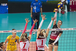 December 12, 2017 - Busto Arsizio, Varese, Italy - Alessia Gennari (#6 Yamamay e-work Busto Arsizio)\ during the Women's CEV Cup match between Yamamay e-work Busto Arsizio and ZOK Bimal-Jedinstvo Brcko at PalaYamamay in Busto Arsizio, Italy, on 12 December 2017. Italian Yamamay e-work Busto Arsizio team defeats 3-0 Bosnian ZOK Bimal-Jedinstvo Brcko. (Credit Image: © Roberto Finizio/NurPhoto via ZUMA Press)
